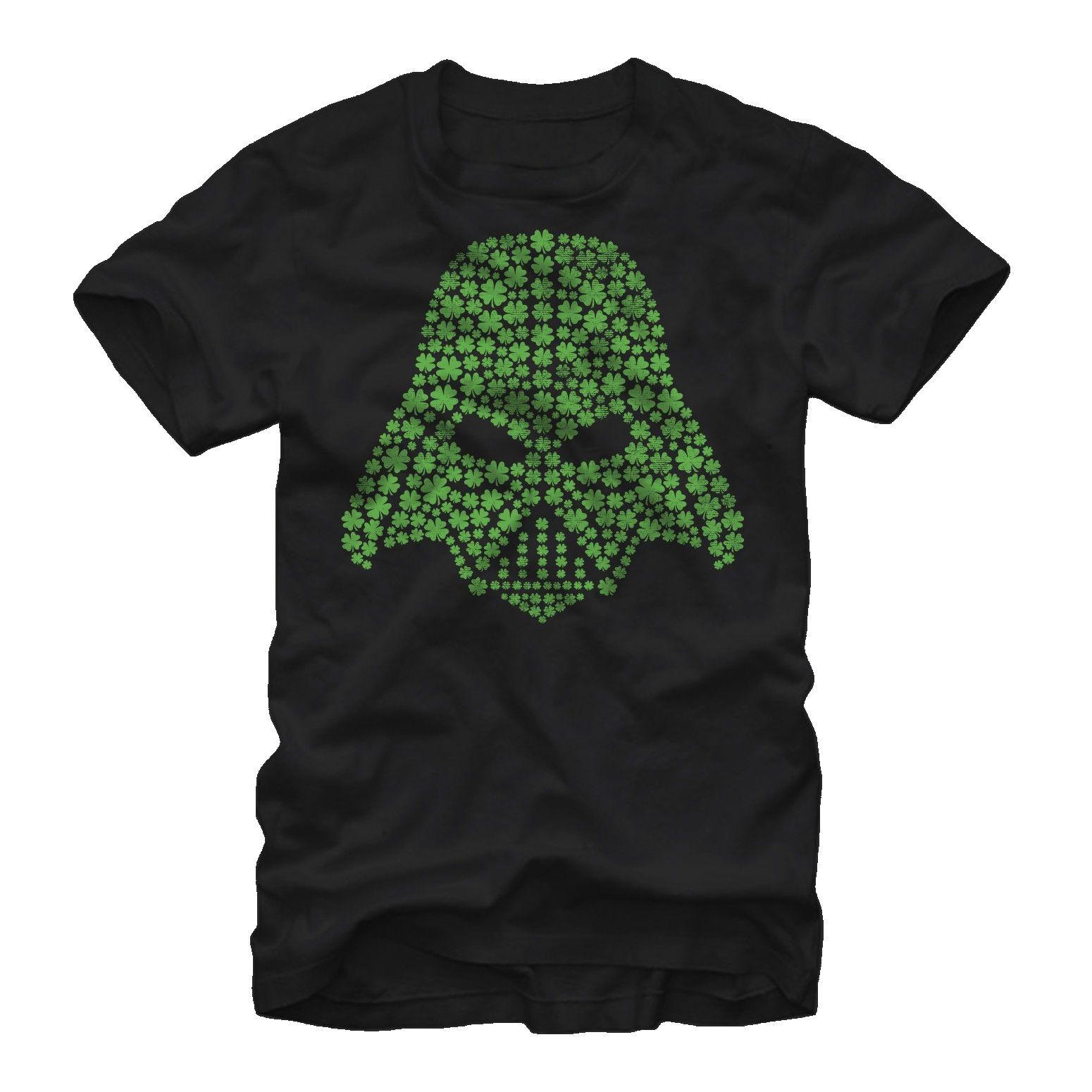 Star Wars Men S Shamrock Darth Vader T Shirt Black Darth Vader T Shirt Star Wars Tshirt Movie T Shirts [ 1550 x 1550 Pixel ]
