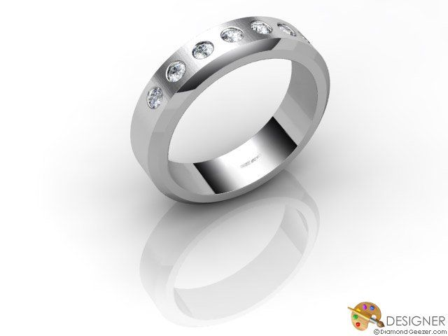 gay mens wedding ring designer diamond flat court comfort fit platinum - Gay Mens Wedding Rings