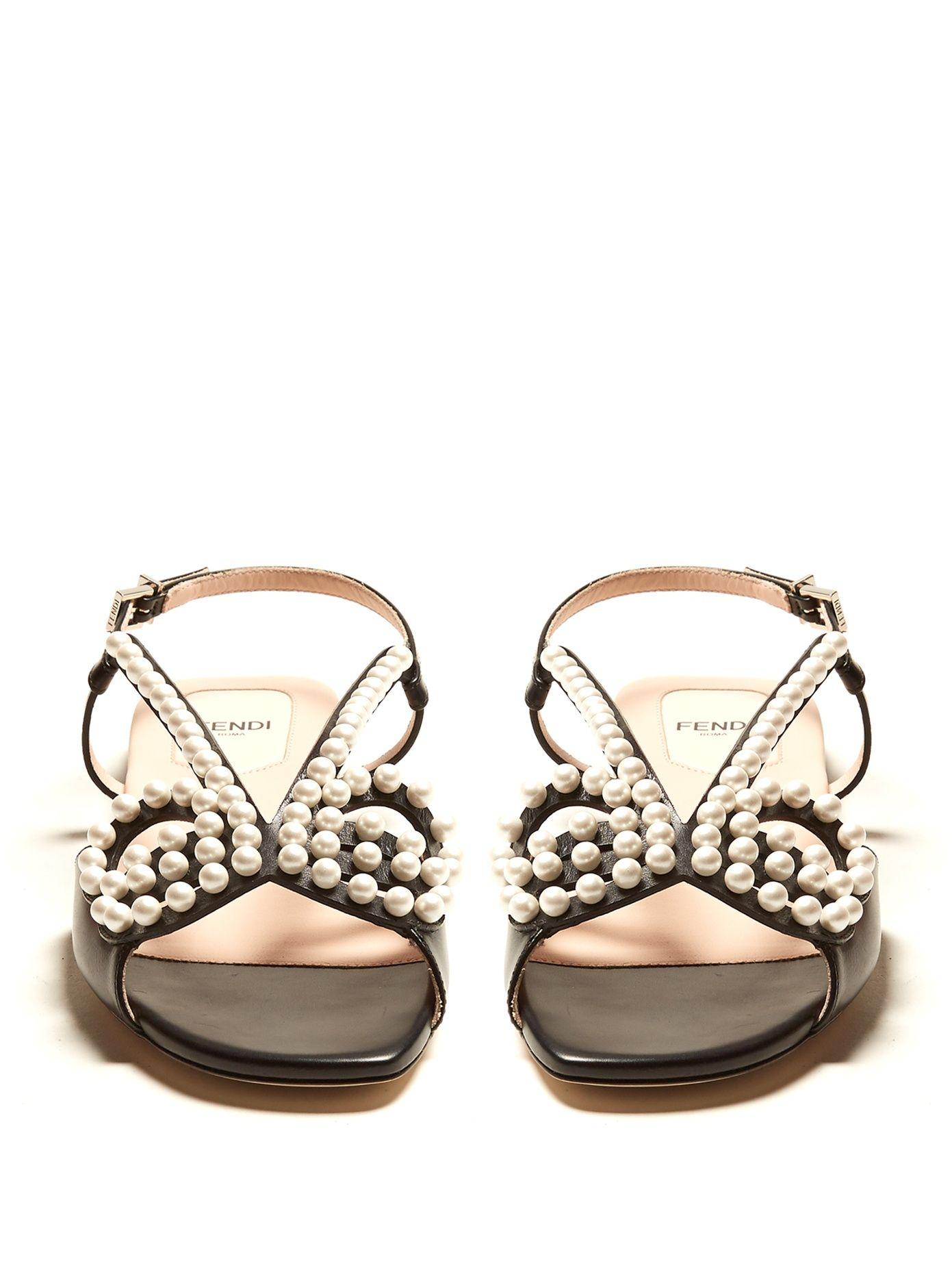 3017ce080a0 Click here to buy Fendi Pearl Land embellished leather sandals at  MATCHESFASHION.COM