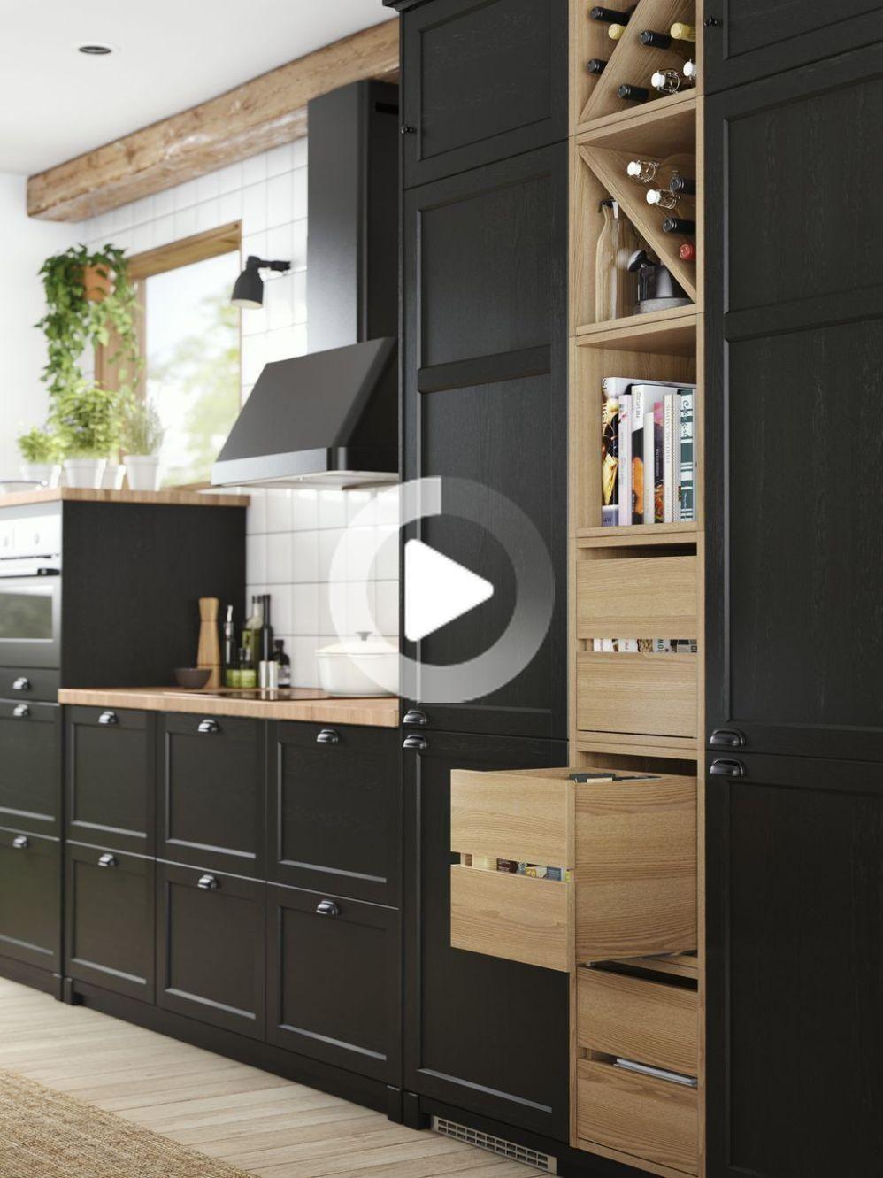 Ikea Le Nouveau Design Cuisines 2018 2019 En 2020 Cuisine Ikea Cuisine Ikea Noire Cuisine Moderne