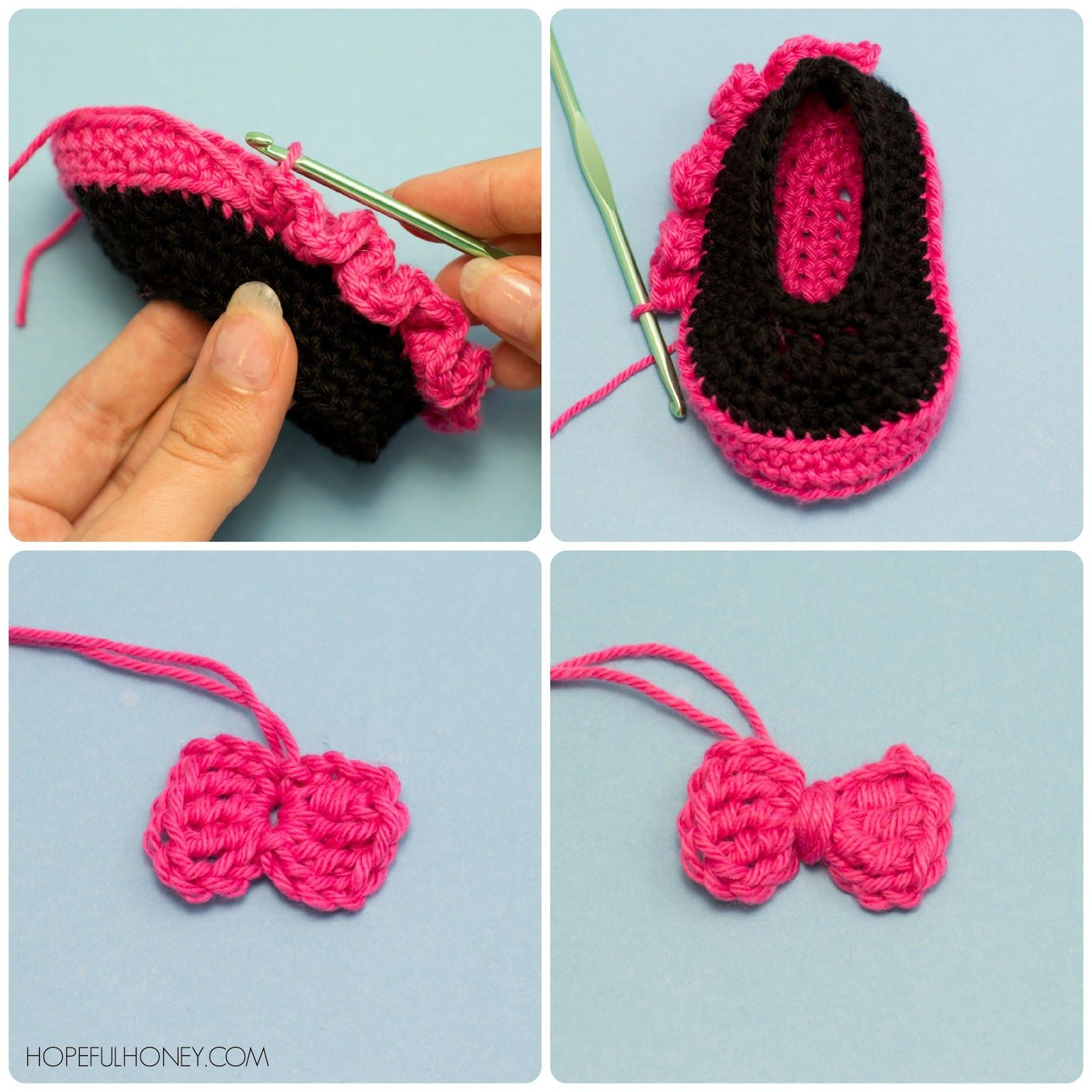 Minnie mouse inspired baby booties crochet pattern booties minnie mouse inspired baby booties crochet pattern bankloansurffo Image collections