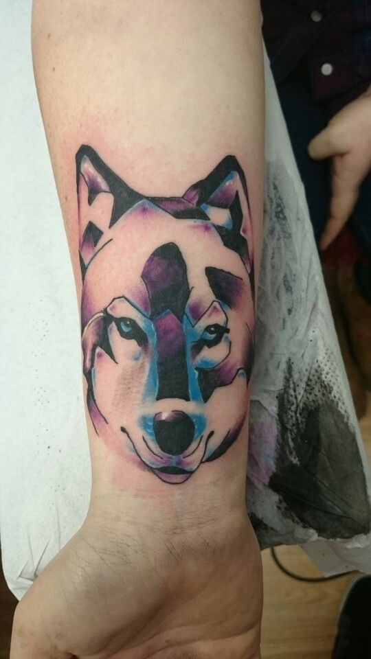 Wolf Geometric Coverup Pretty Had Some Awful Chinese Symbols