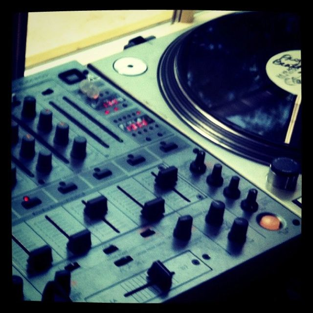 Perfect combinations: mixer, vinyl & turntables  #dj #music