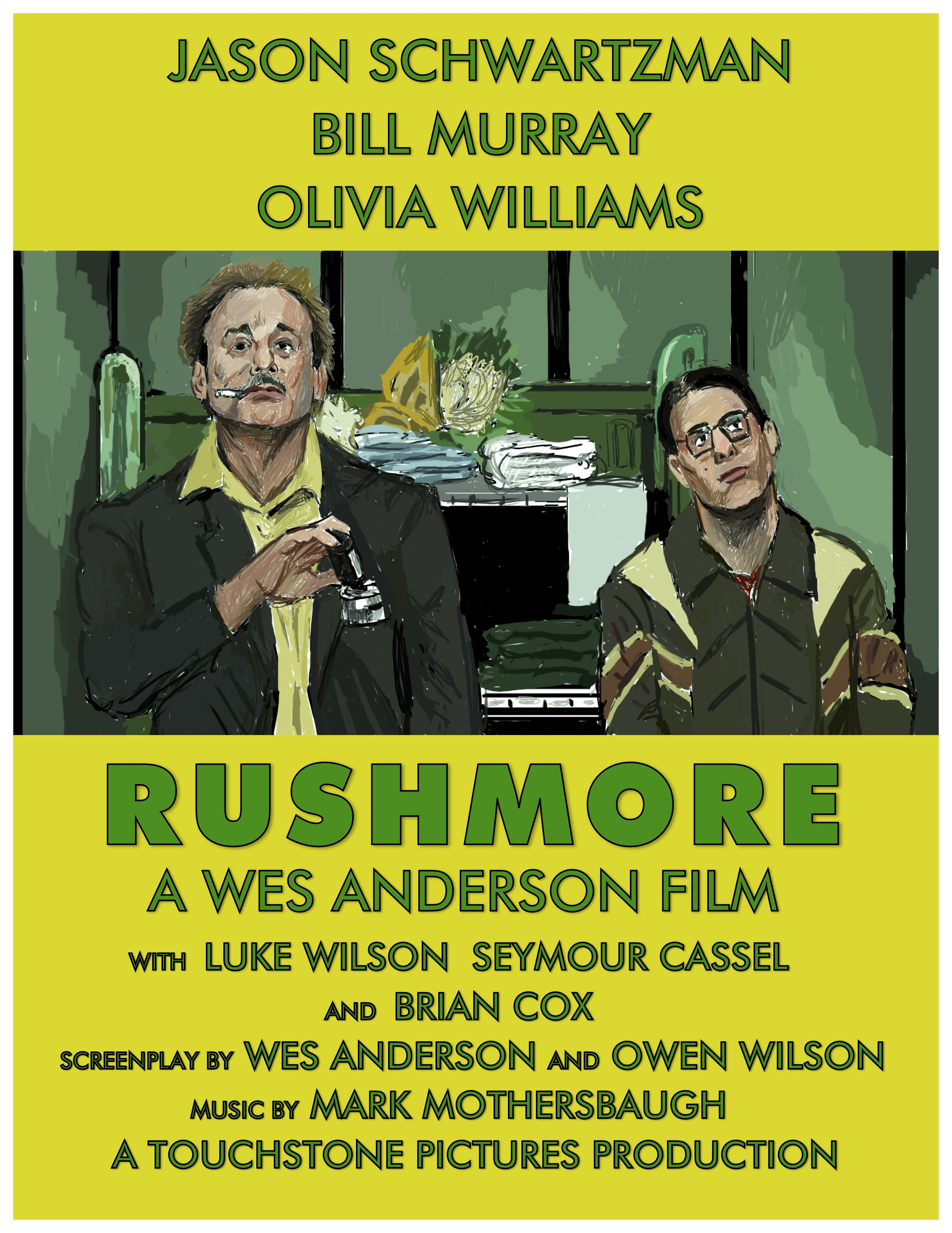 Rushmore 1998 Alternative Poster Wes Anderson Films Touchstone Pictures Mark Mothersbaugh
