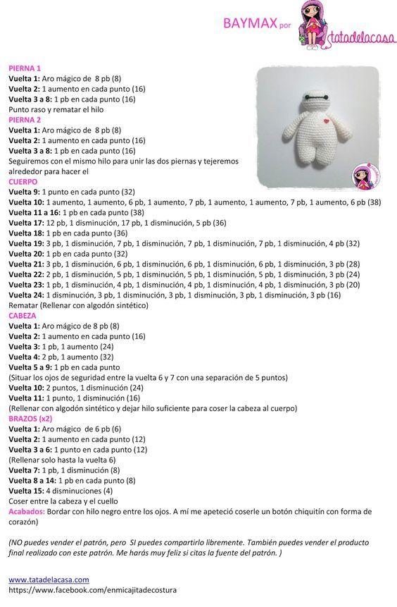 Tatadelacasa: Baymax (patrón amigurumi) | Amigurumi | Pinterest ...