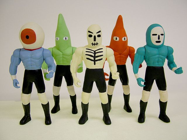 Wrestling Action Figures by Jack Teagle, via Flickr