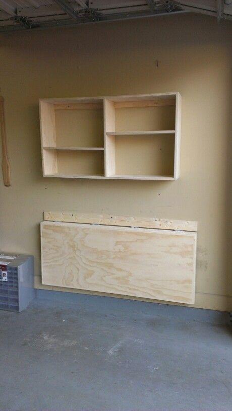 Garage organization and workbench folded for Muebles para garage