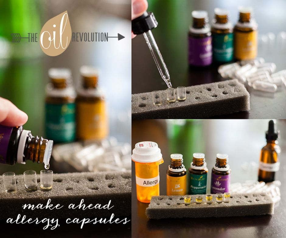 How to make your own allergy capsules using essential oils. Https://www.youngliving.org/donnadoan