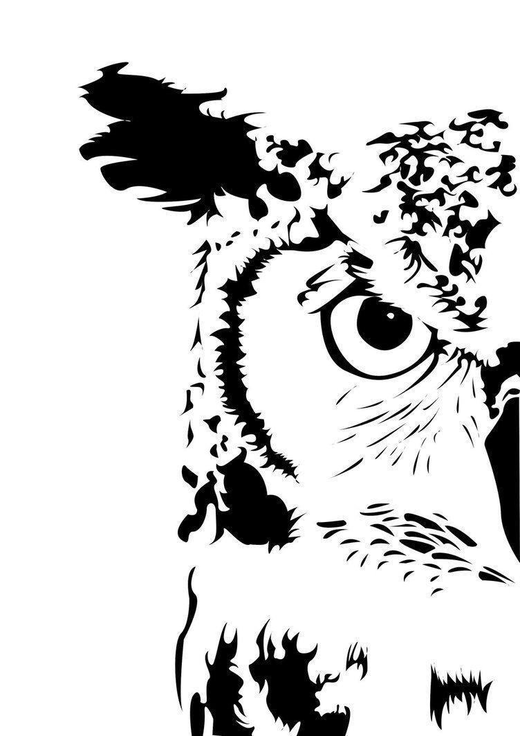 silhouettestencil in 2020  eule schablone vogel stempel
