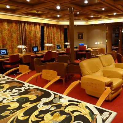 The Internet And Computer Center On The Holland America Veendam Is