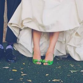 Molly, are you planning on wearing emerald heels under your dress?? I vote YES!