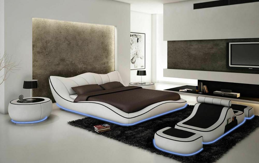 Modernes Design Bett Xxl Betten Luxus Stil Doppel Hotel Leder 140 160 180x200cm Ebay In 2020 Moderne Schlafzimmermobel Lederbett Schlafzimmermobel