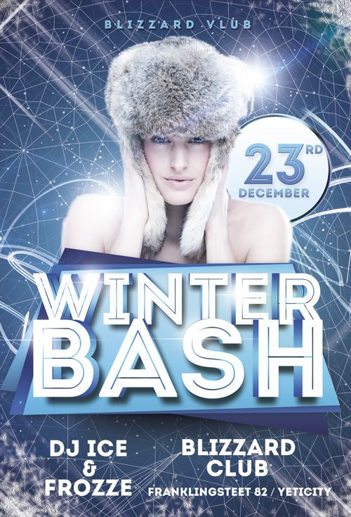Winter Bash Flyer Template HttpsNoobworxComStoreWinterBash