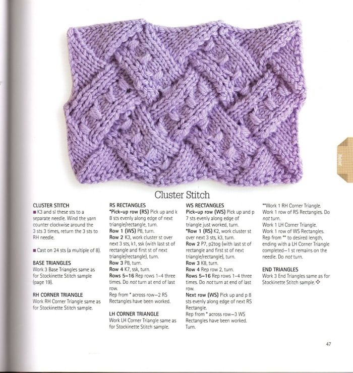 Entrelac - Cluster Stitch. Now if you think I can do this, think ...