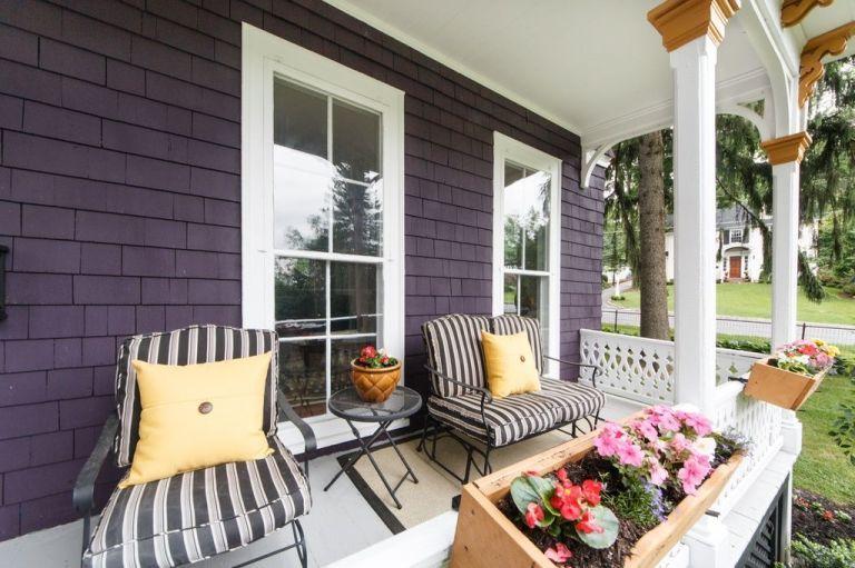Purple Victorian Home Exterior Paint Colors
