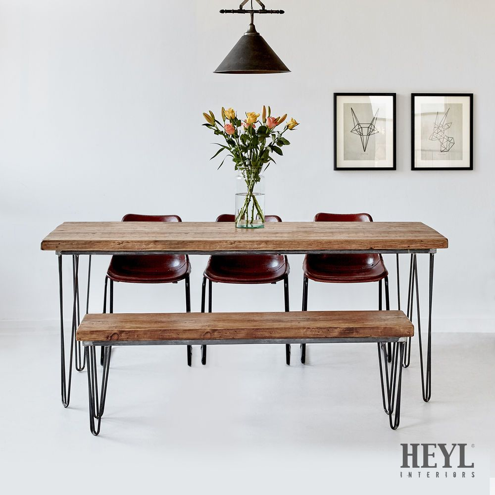 Industrial Rustic Reclaimed Wood Plank Top Dining Table You Can