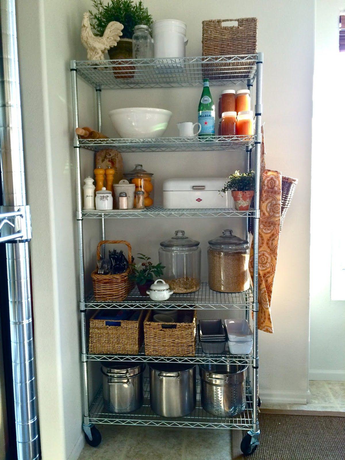 Homestead Revival: No Pantry? No Problem. | Kitchen pantry storage, Apartment kitchen, Kitchen ...