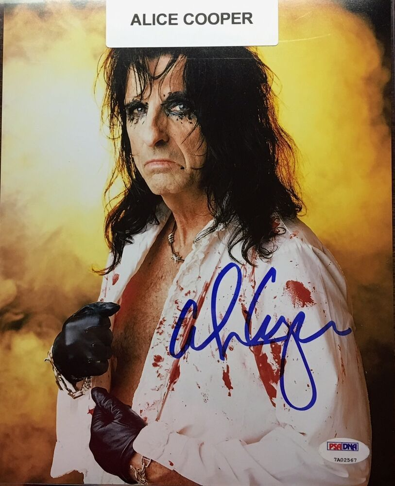 eBay Sponsored ALICE COOPER ITP AUTOGRAPHED / HAND SIGNED
