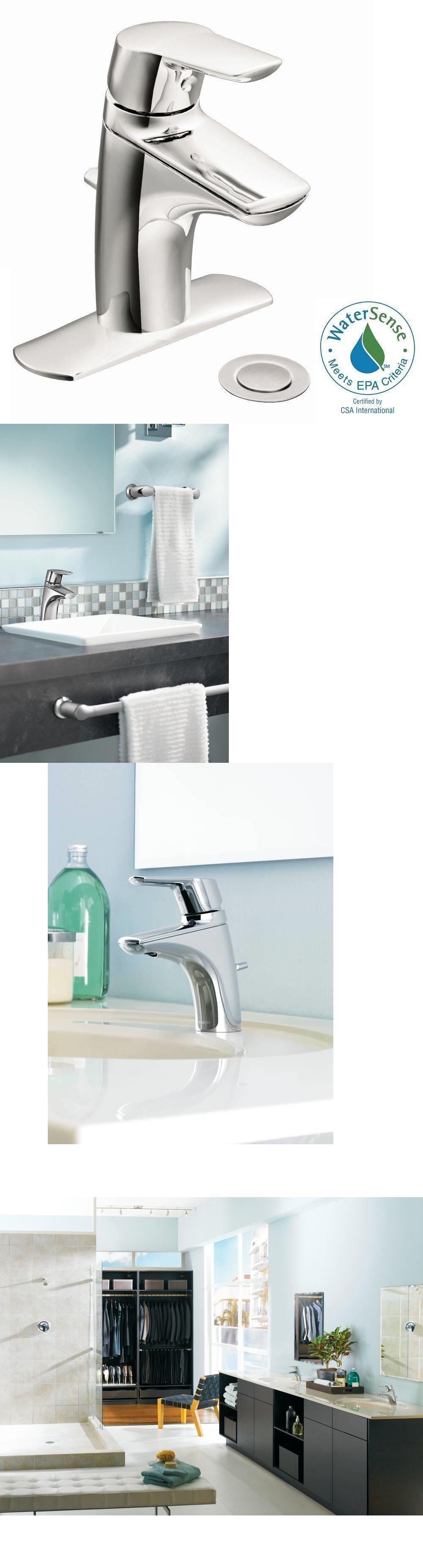 Faucets 42024 New Moen 6810 Single Handle Centerset Low Arc
