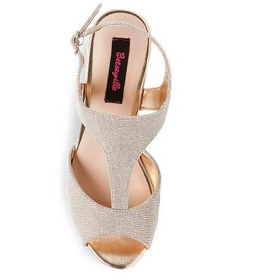 12472d9fb3d3 Women s Betseyville Ryatt Glitter Mesh Platform Wedge Sandals - Soft Gold  5.5