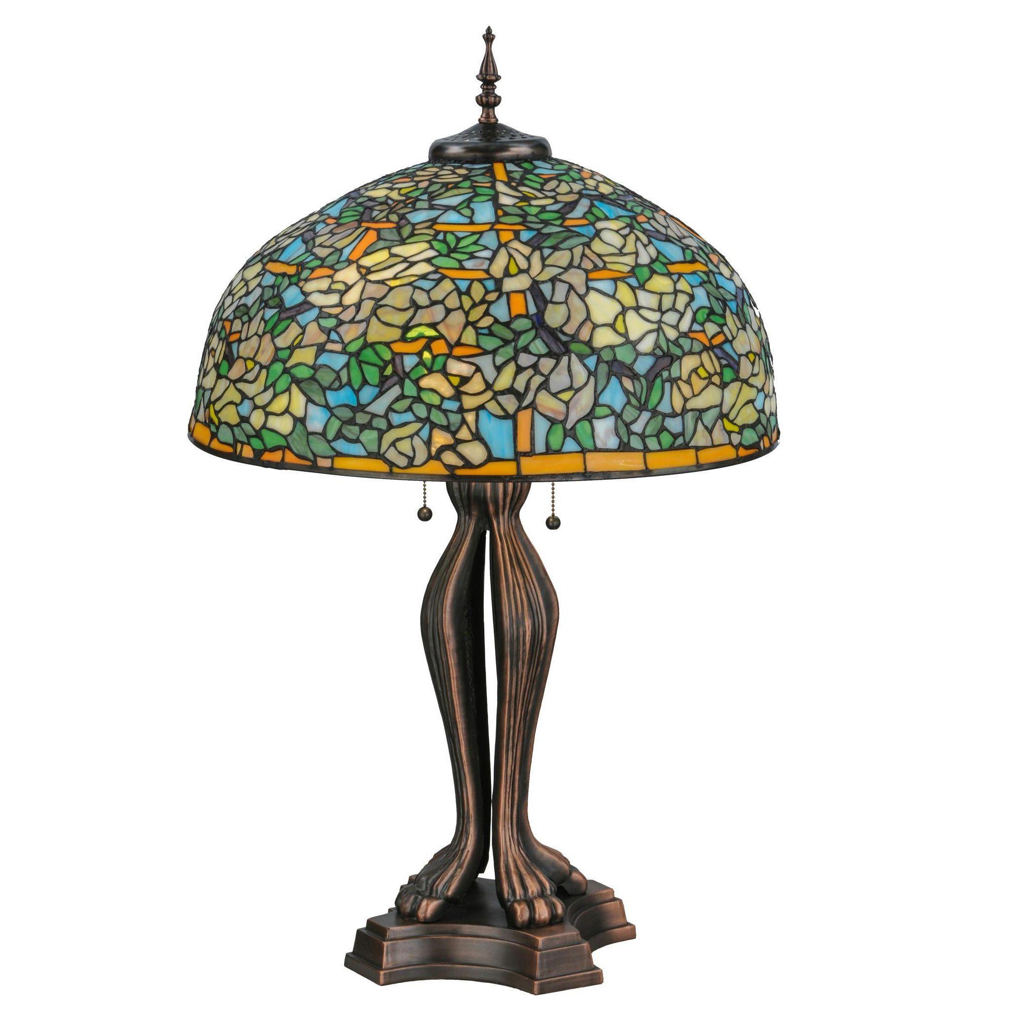 36 Inch H Tiffany Laburnum Trellis Table Lamp