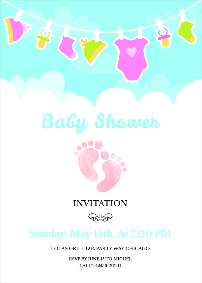 3 Free Editable Baby Shower Invitation Card Templates  Baby