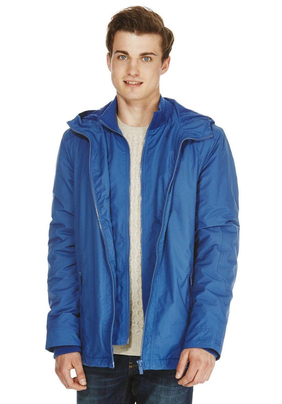 Clothing at Tesco | F&F Fleece Lined Hooded Waterproof Jacket ...