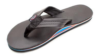 dc9d850031ff The Americana II - Made in USA - Ladies Black CLASSIC Leather with Red -  White - Blue Midsole