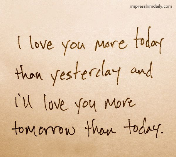 More Than I Love You Quotes For Him: Impress Him Daily #Love #Quotes