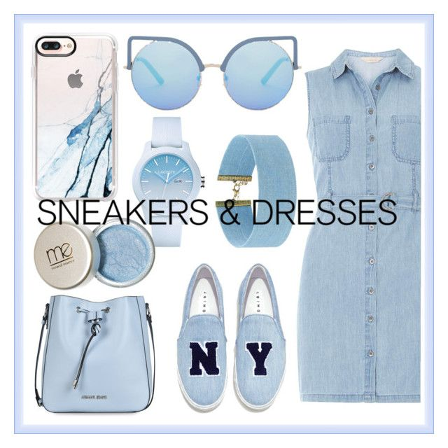 """""""Blue summer"""" by kenziemaxwell on Polyvore featuring Dorothy Perkins, Joshua's, Armani Jeans, Matthew Williamson, Casetify, Lacoste and Steve Madden"""