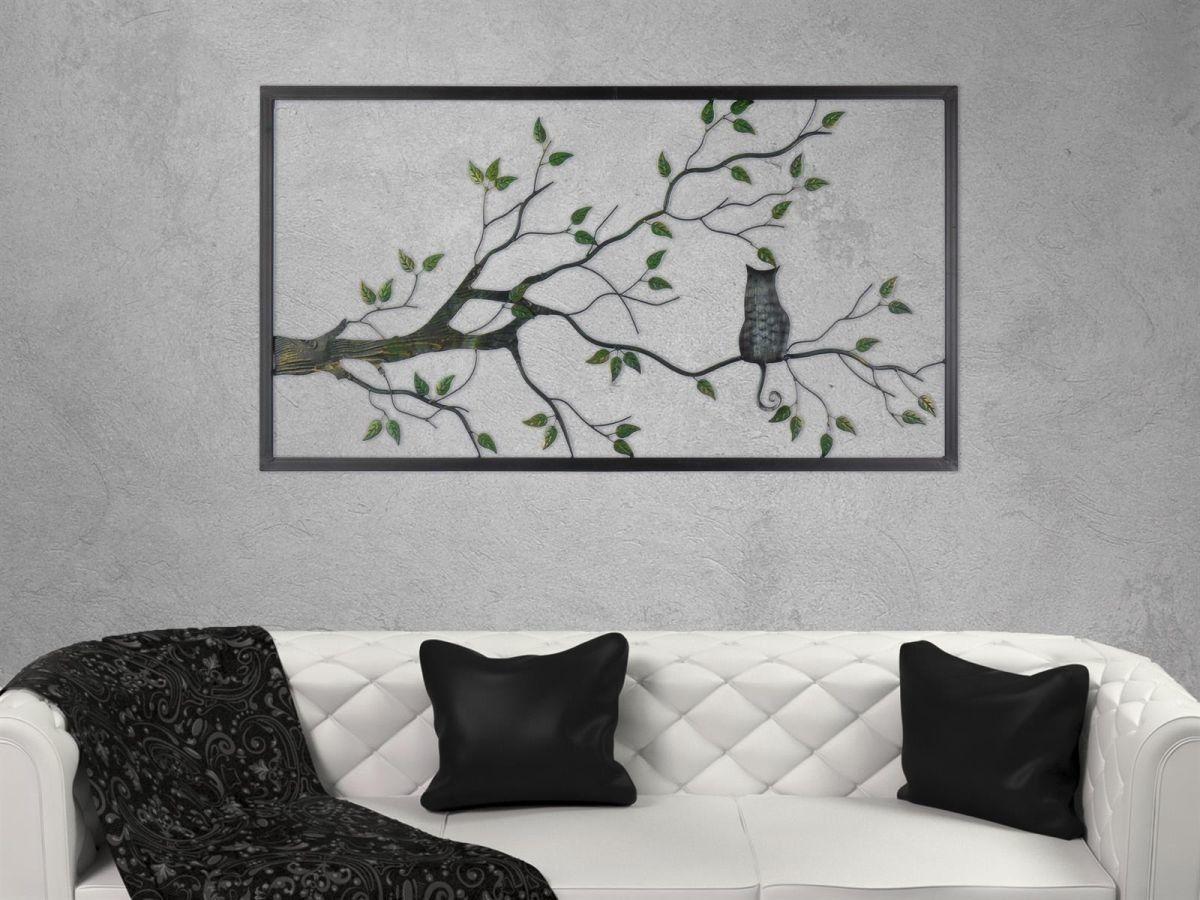Gilde Wandbild Aus Metall Katze Auf Baum Raumzutaten 79 00