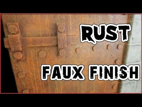 Haunt Ventures 165 - Rust faux finish - YouTube painting - how to make halloween decorations youtube
