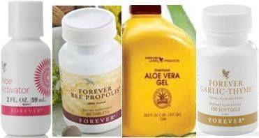 Combining Aloe Vera Gel Aloe Activator Bee Propolis Garlic