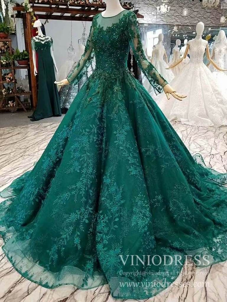 Vintage Long Sleeve Emerald Green Lace Prom Dresses Cheap Formal Dress Fd1937 Cheap Formal Dresses Green Wedding Dresses Prom Dresses Lace [ 1024 x 768 Pixel ]