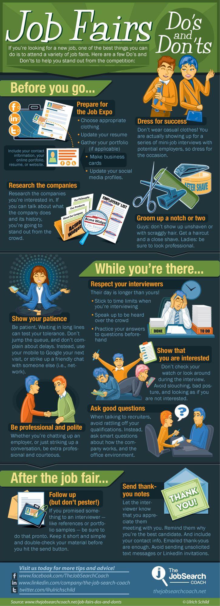 Home | Career tips | Career fair tips, Job fair, Job