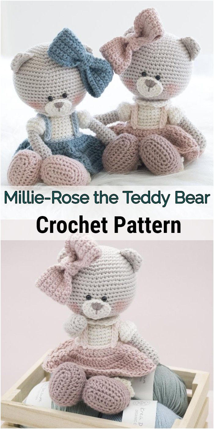 Millie-Rose the Teddy Bear  #crochetbearpatterns