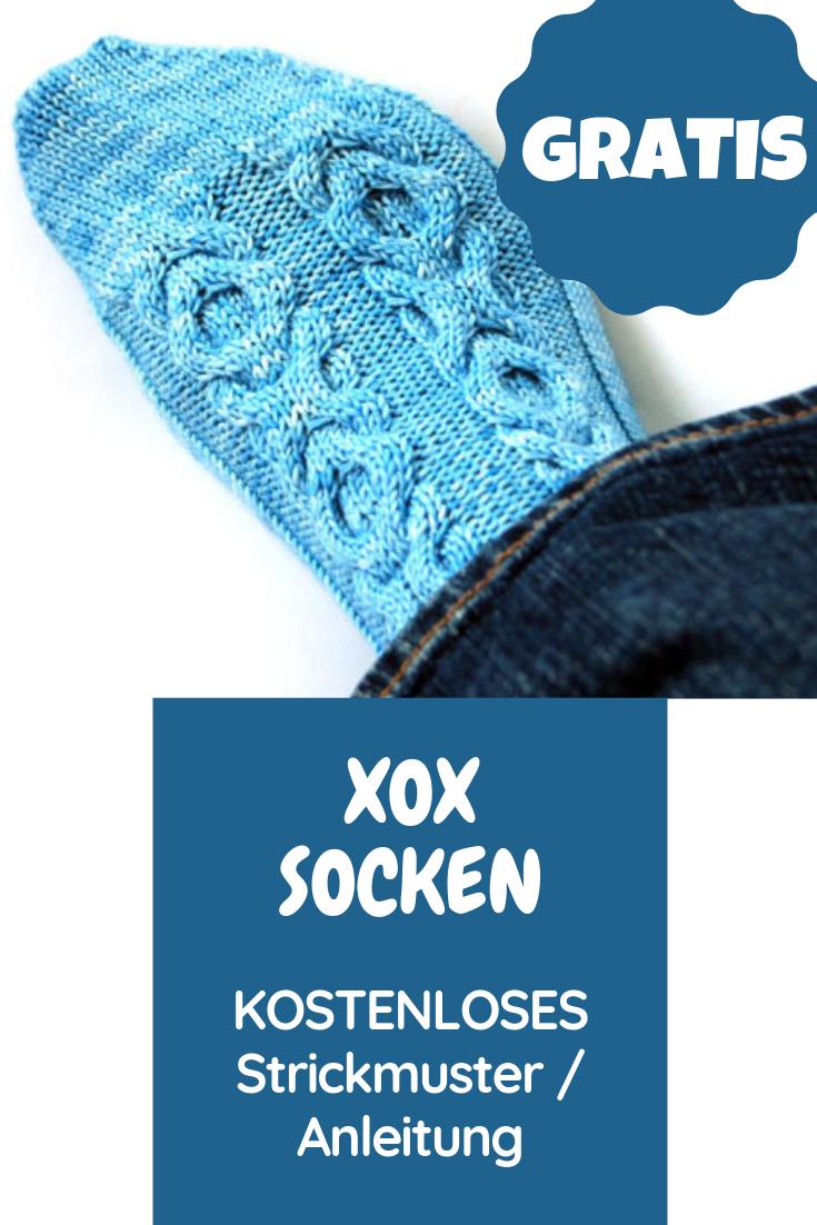 Photo of XOX-Zopfsocken: kostenloses Muster / Anleitung für Socken mit Zopfmuster