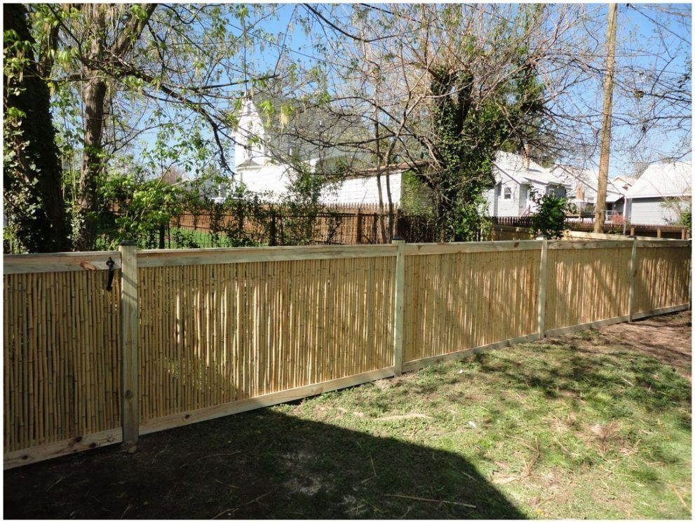 46 Beautiful Privacy Backyard Wood Fence Ideas Backyard Fences Bamboo Fence Garden Fence Art