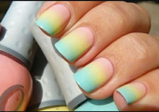 Really easy super cute summer nails