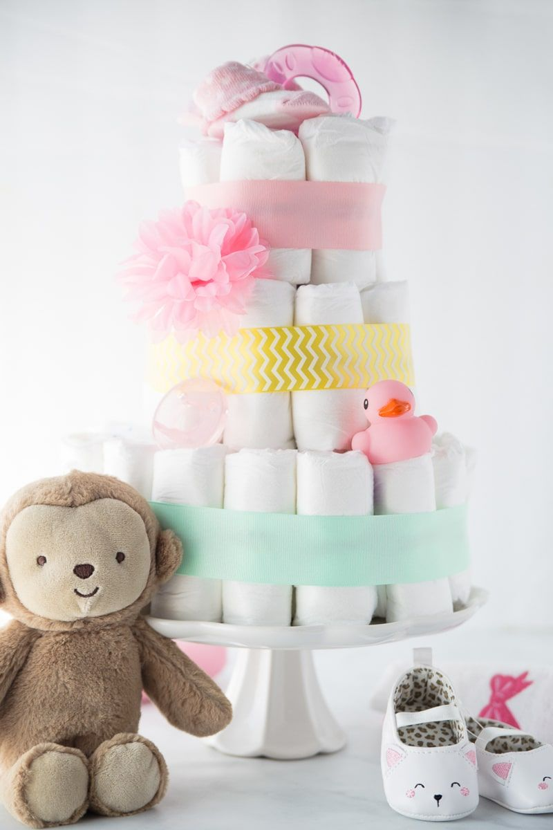 How to Make a Diaper Cake in Three Ridiculously Easy Steps