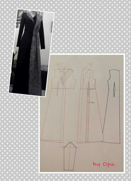 Long jacket | Dress | Pinterest | Molde, Patrones y Costura