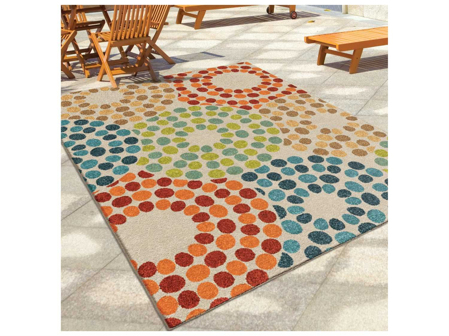 Orian Rugs Veranda Brandon Berry Rectangular Area Rug
