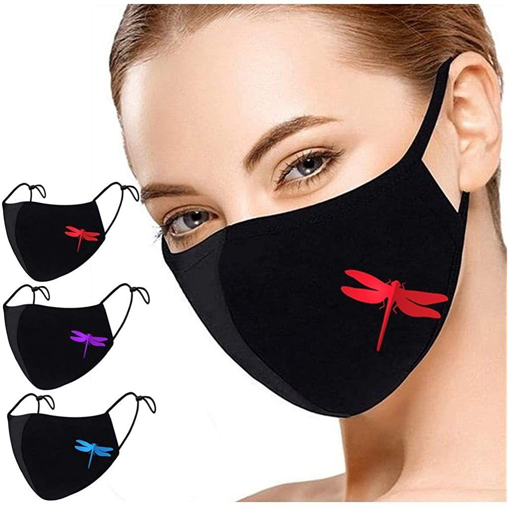 course /à pied avec 10 filtres /à charbon actif Ch/éap4uk Lot de 3 masques r/éutilisables en tissu de coton avec filtre pour moto activit/és de plein air v/élo bleu