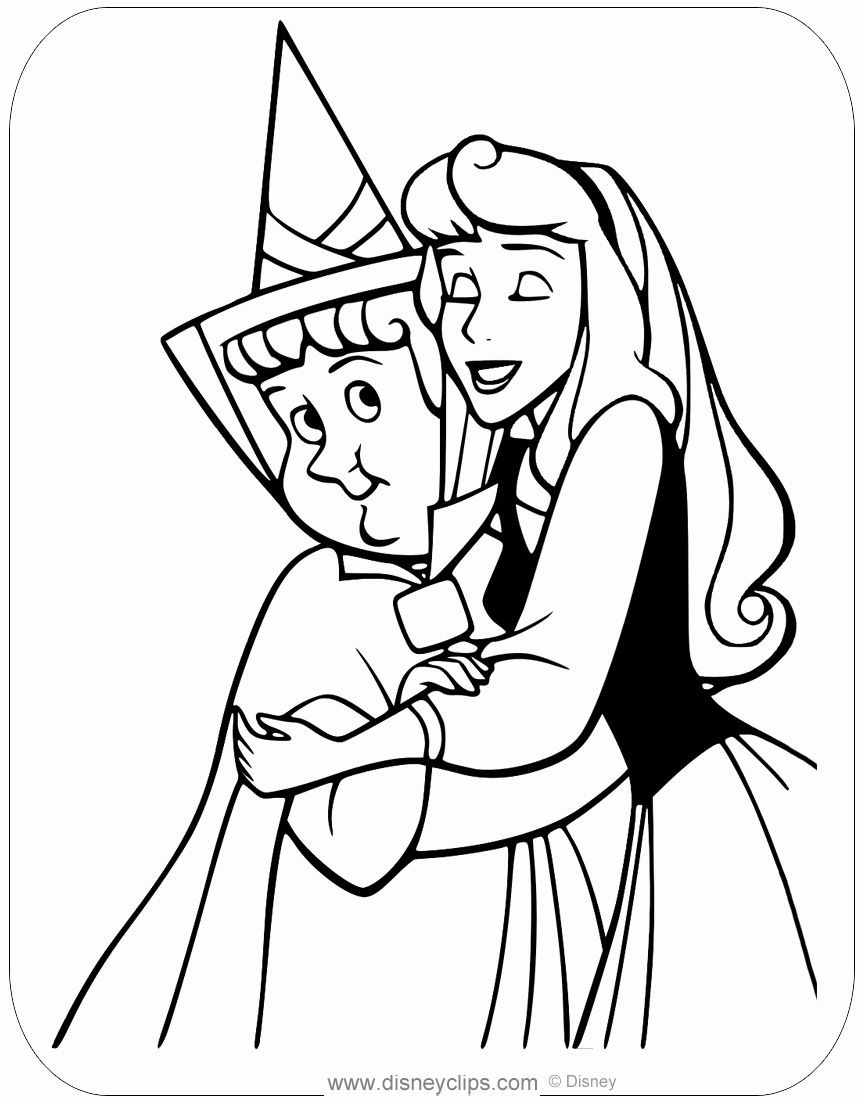 Sleeping Beauty Dragon Coloring Pages - Tripafethna