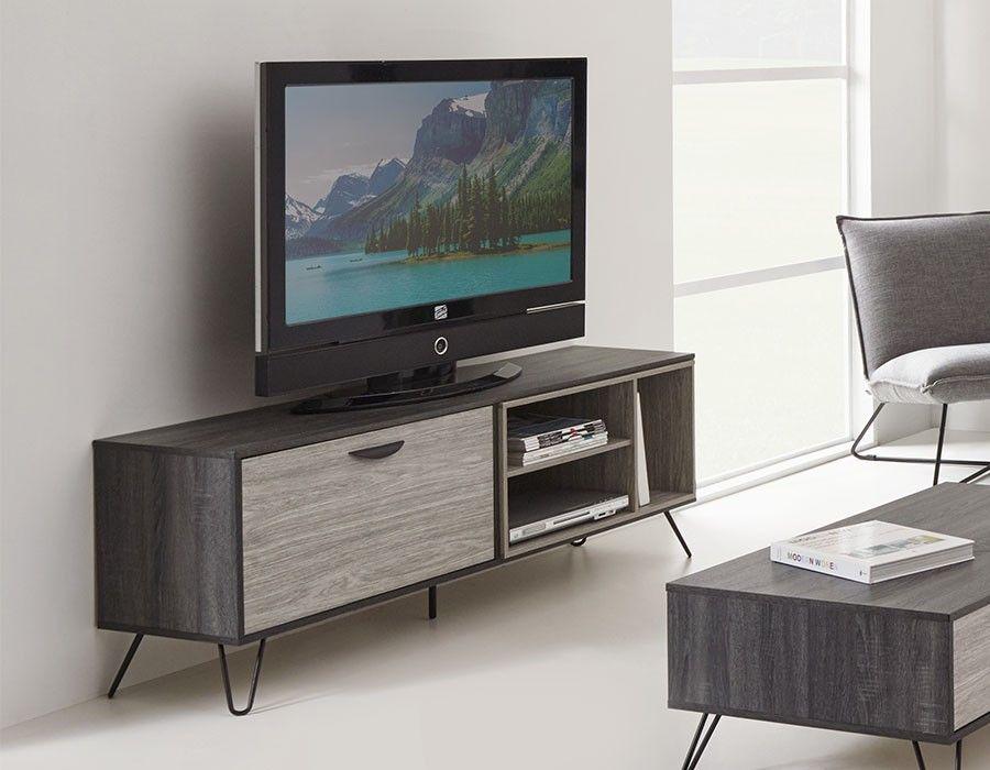 Meuble Tv Moderne Couleur Chene Gris Dustin Muebles Contemporaneos Muebles Electronica
