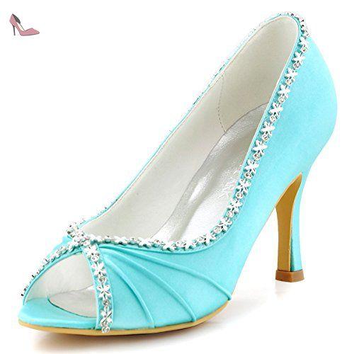 Chaussures de soirée à bout ouvert Elegantpark bleues femme rTpW3