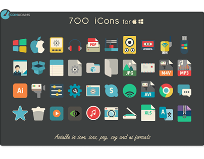 "Check out new work on my @Behance portfolio: ""700 flat icons"" http://be.net/gallery/60384369/700-flat-icons"