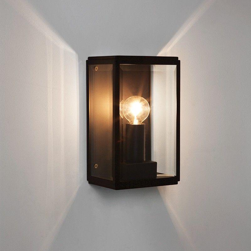 Astro Homefield 130 Outdoor Wall Light - Black - Lighting