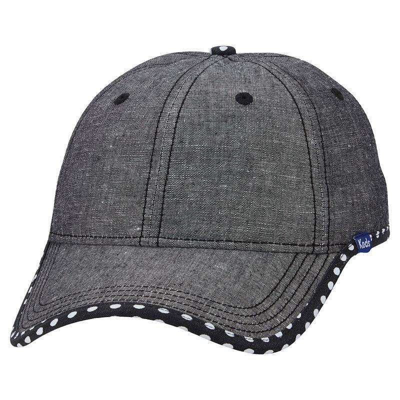 Women s Keds Chambray Dotted Brim Baseball Hat de5fb81c0c70