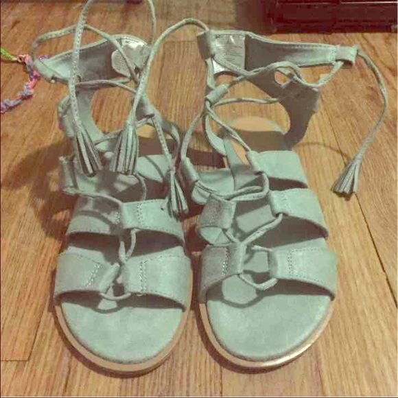 Gladiator Sandals brand new, suede material Old Navy Shoes Sandals